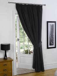 Black Blackout Curtains Pair Of Black 46