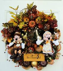 thanksgiving disney wreath mickey and by sparkleforyourcastle