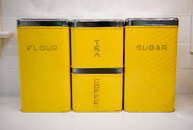 yellow kitchen canisters extraordinary idea yellow kitchen canister set sets for and gold
