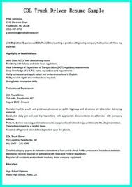 Truck Driving Resume Examples by Cdl Resume Resume Cv Cover Letter