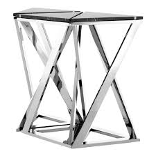 Steel Console Table Eichholtz Galaxy Console Table Stainless Steel Set Of 3 Houseology