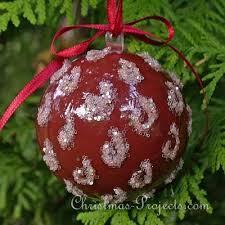 tree ornament craft glitter ornament