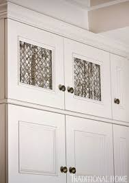 Cabinet Door Mesh Inserts I M Starting To Really Like The Brass Bronze Hardware And The
