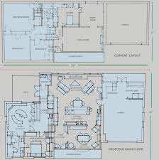 tri level floor plans 60s split level rebuild feedback on elevation and floor plan