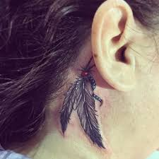 Tattoo Ideas For Behind Ear Best 20 Feather Tattoo Ear Ideas On Pinterest Feather Tattoos