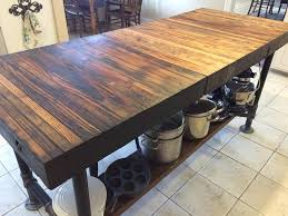 butcher block kitchen table ideas majestic butcher block kitchen island designs using distressed