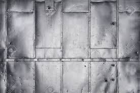 metal panels on industrial door or wall stock photo picture and