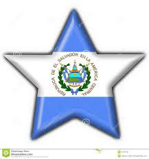 Flag El Salvador El Salvador Button Flag Star Shape Stock Illustration Image 4758786