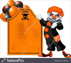 scary halloween party invitations halloween scary halloween clown inviting stock illustration