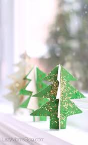 recycled cardboard christmas tree easy winter craft lazy mom u0027s blog