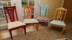 How To Cover A Dining Room Chair How To Reupholster Kitchen Chairs