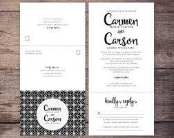 send and seal wedding invitations black n white invite etsy
