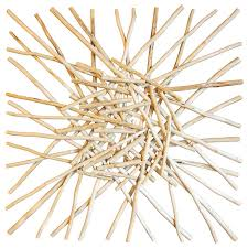wood stick cluster wall style wall