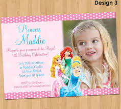 Personalized Invitation Card For Birthday Disney Princess Party Invitations U2013 Gangcraft Net