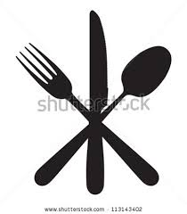 kitchen forks and knives cutlery knife fork spoon stock vector 113143402