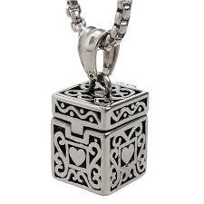 vintage necklace box images Vintage box urn necklace allthingsfuneral jpg