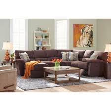 reclining sectional sofas with chaise la z boy reese six piece power reclining sectional sofa w ras