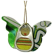recycled pop tab ornaments from guatemala fair trade