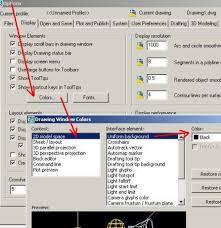 layout en español como se escribe cambiar color de fondo autocad o microstation geofumadas