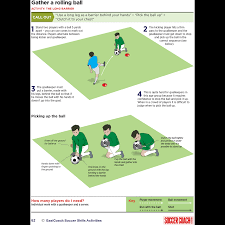 teach your u10 goalkeeper to gather a rolling ball soccer coach