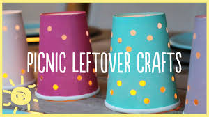 play picnic leftover crafts paper plates cups plastic