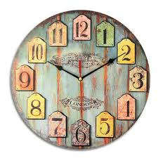 Shabby Chic Wall Clocks by Diy Large Wooden Wall Clock Shabby Chic Rustic Retro For Home