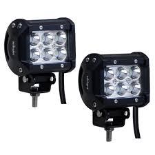 Off Road Light Bars Led amazon com nilight 2 x 18w 1260 lm cree led spot driving fog