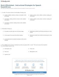 Syllable Worksheets Quiz U0026 Worksheet Instructional Strategies For Speech Sound