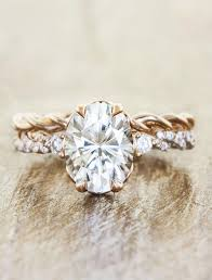 unique engagement rings for shanel gold oval twisted band ring ken design