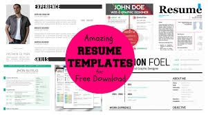 Unique Resumes Templates 20 Awesome Designer Resume Templates For Free Download U2013 Kellology