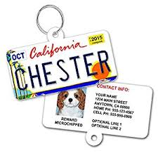license plate custom tags for pets personalized