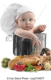 cuisine bébé mignon pot cuisine chef cuistot bébé potelé mignon image