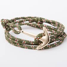 anchor bracelet charm images 9 colors fashion leather gold anchor bracelets charm bangle jpg