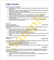 Event Coordinator Resume Sample Top Sample Resumes by Event Coordinator Resumes Event Planner Cv Template Marketing