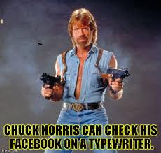 Typewriter Meme - chuck norris guns meme imgflip