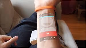 cicret bracelet review images The cicret bracelet wearable technology that makes your skin