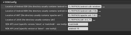 sdk manager apk android build failed could not find file debug apk ue4 answerhub