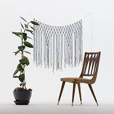 Wedding Backdrop Amazon Amazon Com The House Phoenix Light Grey Handmade Macrame Wall