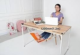 foot elevation under desk amazon com canvas foot rest desk hammock put your foot up on the