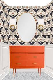 powder rooms with wallpaper rosa beltran design favorite wallpapers and sconce lighting for a