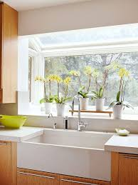 does kitchen sink need to be window a midcentury modern makeover farmhouse style kitchen