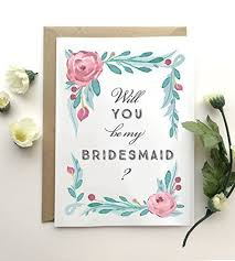 in bridesmaid card will you be my bridesmaid card botanical bridesmaid