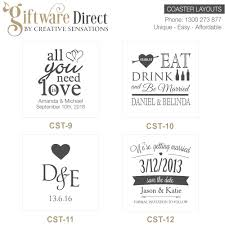 wedding coasters personalised engraved glass wedding coasters wedding favours cheap