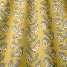 scandi birds fabric mustard scandibirdsmustard iliv scandi