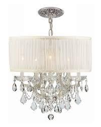 Drum Chandelier Lighting H85wu Swarovski Crystorama Brentwood 6 Light Elements Crystal