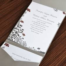 luxury flowers pocket wedding invitation ewpi009 as low as
