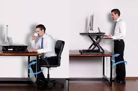Standing Or Sitting Desk Sit Stand Desktop Workstation Loctek