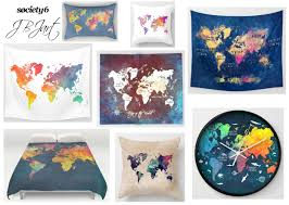 World Map Curtains by Home Decor U2013 Jbjart