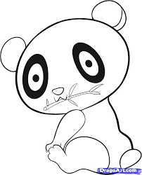how to draw an easy panda step by step rainforest animals