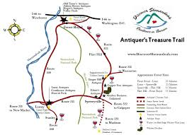 Skyline Drive Map Antiquer U0027s Treasure Trail On Discover Shenandoah Discover Shenandoah